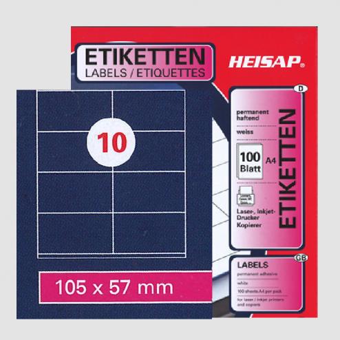 Selbstklebe-Etiketten – 105 x 57 mm