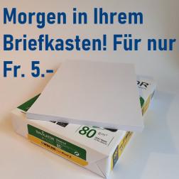 Kopierpapier 80 g/m2 - Pack à 100 Blatt A4 (inkl. Versandkosten)