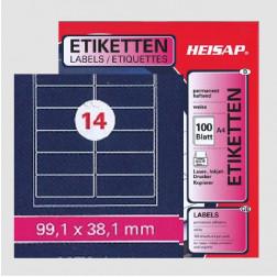 Selbstklebe-Etikettenbogen A4 – 99 x 38 mm – 14 Etiketten pro Blatt