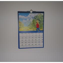 Kalender Blau , DIN A5, Hochformat