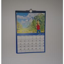 Kalender Blau, DIN A4, Hochformat
