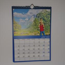 Kalender Blau DIN A3, Hochformat