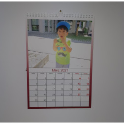 Kalender Rot, DIN A5, Hochformat