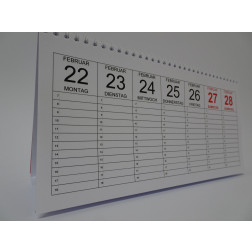Stellkalender  Wochen- Planer