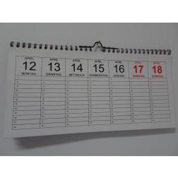 Wandkalender  Wochen- Planer