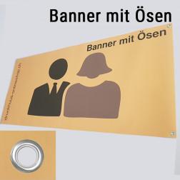 Banner mit Ösen 130 x 45cm