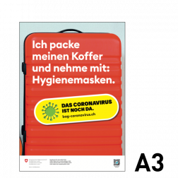 Informationskleber: Koffer packen - A3