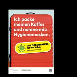 Informationskleber: Koffer packen - A3