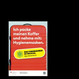 Informationskleber: Koffer packen - A4