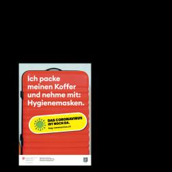 Informationskleber: Koffer packen - A5