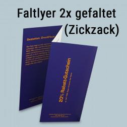 Faltflyer 2mal gefaltet (Zickzack-Falz)