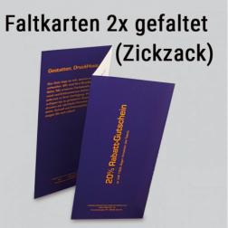 Faltkarten 2mal gefaltet (Zickzack-Falz)