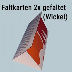 Faltkarte 2mal gefaltet (Wickel-Falz)