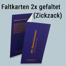 Faltkarter 2mal gefaltet (Zickzack-Falz)