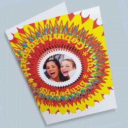 Geburtstagskarte Kreis A5 gefaltet