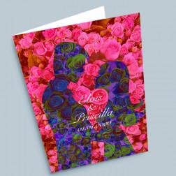 Hochzeitskarte Blumenpaar A6 gefaltet