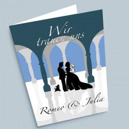 Hochzeitskarte Silhouette A5 gefaltet