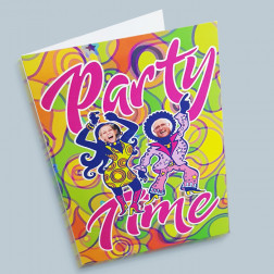Karte Partytime A6 gefaltet