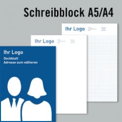 Schreibblock – Deckblatt und Inhalt zum editieren