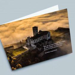 Trauerkarte Wolken 180x110mm gefaltet