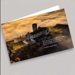 Trauerkarten Wolken 180x110mm gefaltet