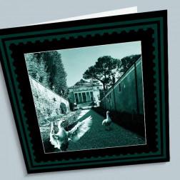 Trauerkarte Villa 140x140mm gefaltet