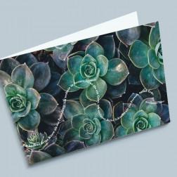 Trauerkarte Pflanze 180x110mm gefaltet