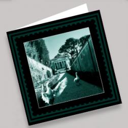 Trauerkarten Villa 140x140mm gefaltet