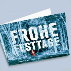 Weihnachtskarte Waldchlaus A6 gefaltet