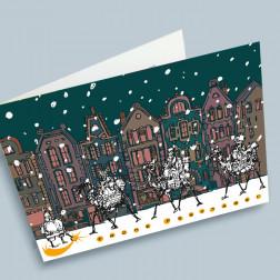 Weihnachtskarte Kamele A6 gefaltet