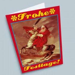 Weihnachtskarte Samichlaus auf Pferd A6 gefaltet