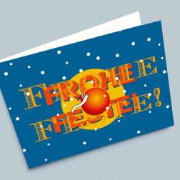 Weihnachtskarte Kugelklaus A6 gefaltet