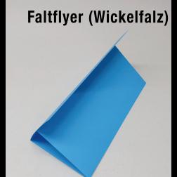 Faltflyer 2mal gefaltet (Wickel-Falz)