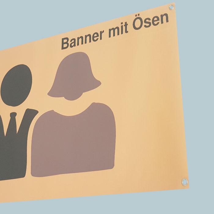 Banner mit Ösen (90x30cm)